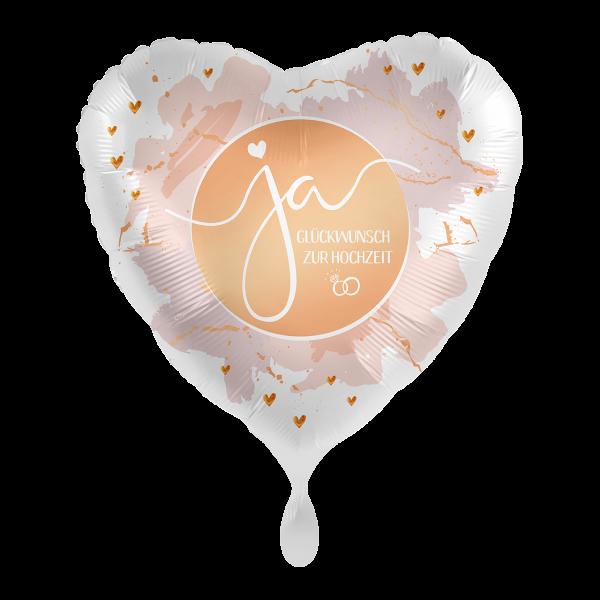 1 Ballon - Ja Glückwunsch zur Hochzeit