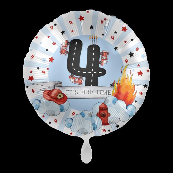1 Ballon - Happy Fire Engine - Vier