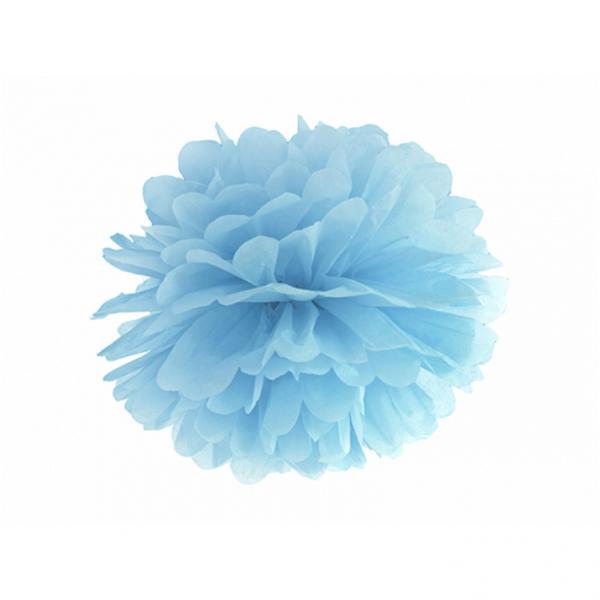 1 Pompom XL - Ø 35cm - Hellblau