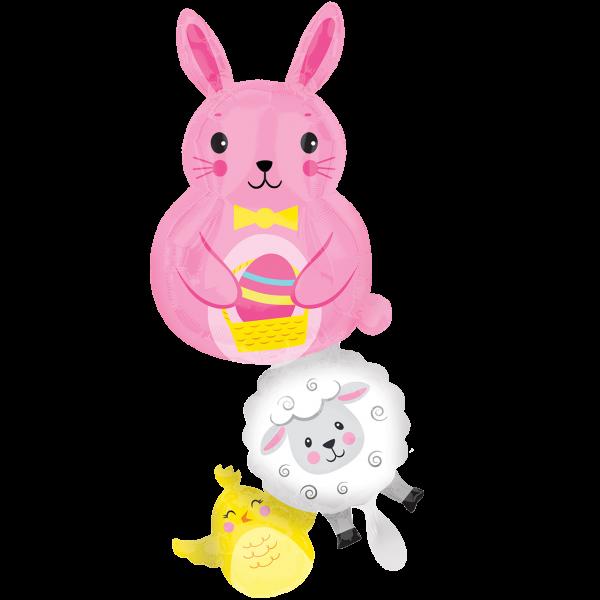 1 Ballon XXL - Bunny & Friends Stacker