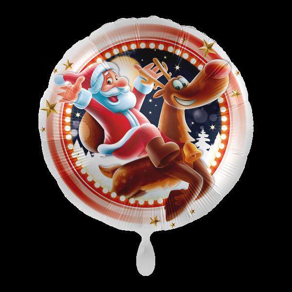 1 Ballon - Santa & Rudolph