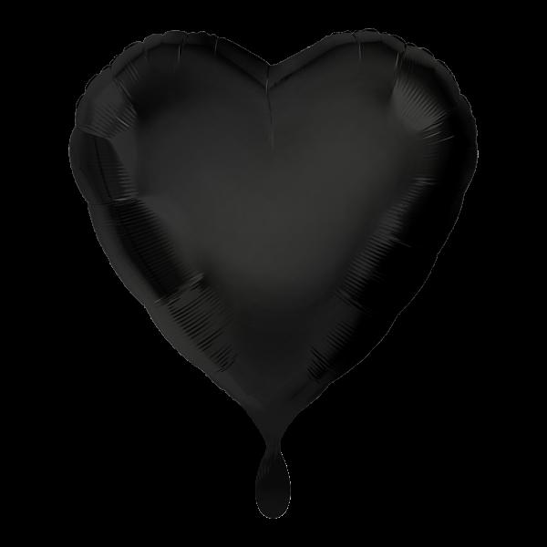 1 Ballon - Herz - Schwarz