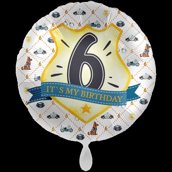 1 Ballon XXL - Police Academy - Sechs