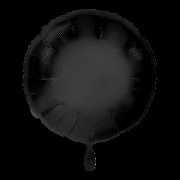 1 Ballon - Rund - Schwarz