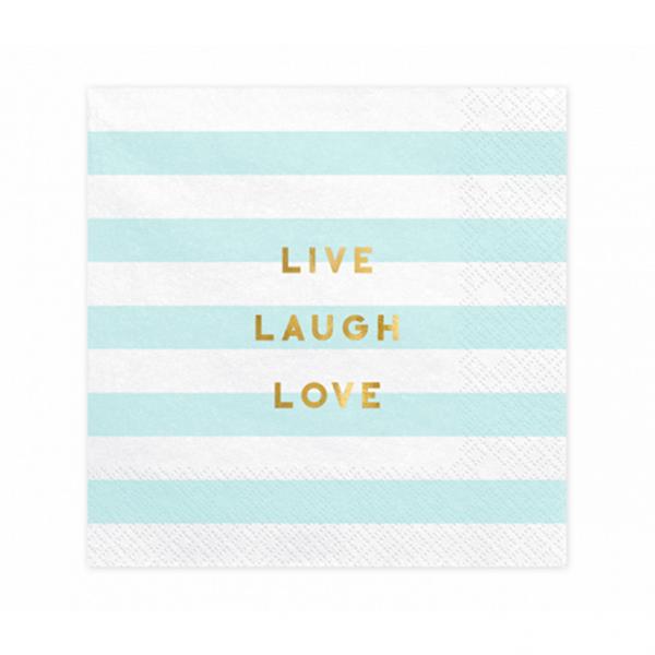 20 Servietten Trend - 33cm - Live Laugh Love