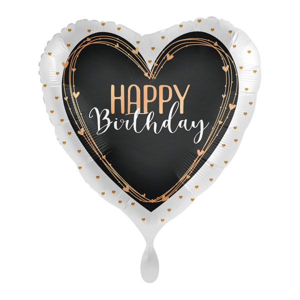 1 Ballon - Happy Birthday Elegant Hearts