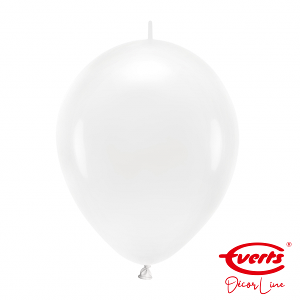 50 Girlandenballons - DECOR - Ø 30cm - Frosty White