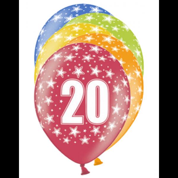 6 Motivballons - Ø 30cm - 20 Celebration