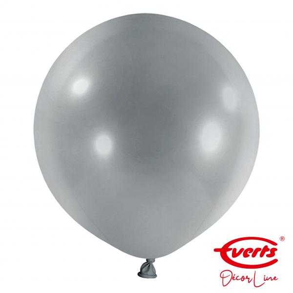 4 Riesenballons - DECOR - Ø 60cm - Pearl & Metallic - Silver