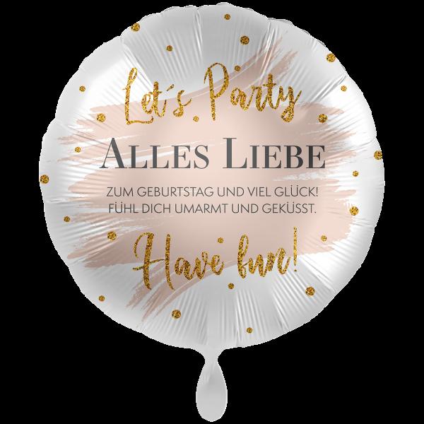 1 Ballon XXL - Alles Liebe Summer Glow