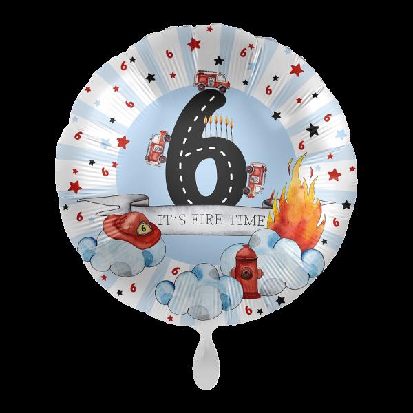 1 Ballon - Happy Fire Engine - Sechs