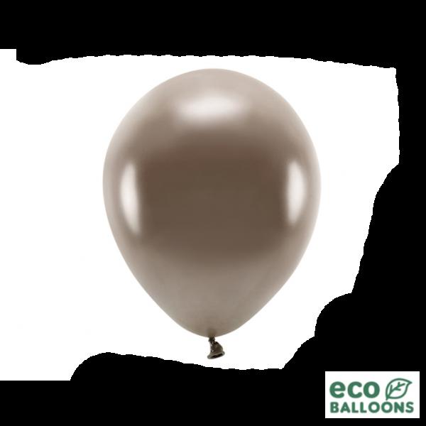 10 ECO-Luftballons - Ø 26cm - Metallic - Brown