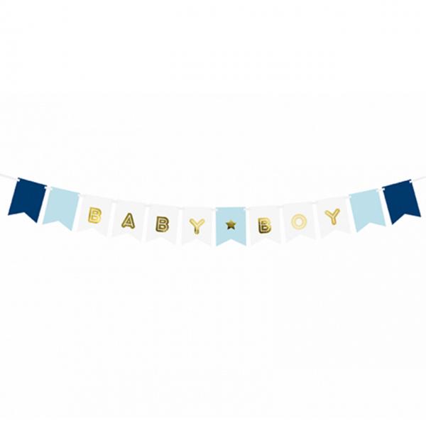 1 Bannergirlande - Baby Boy