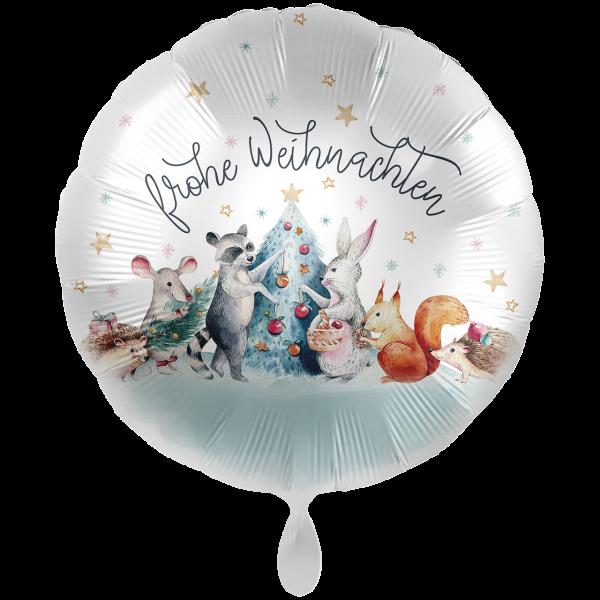 1 Ballon XXL - Christmas Woodland