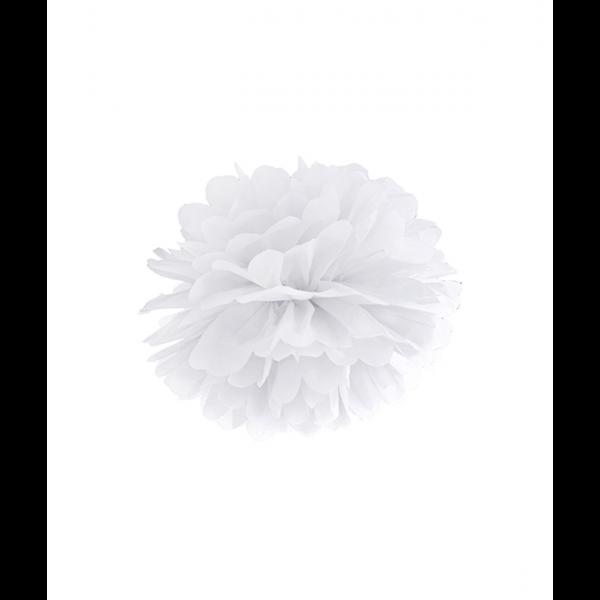 1 Pompom - Ø 25cm - Weiß