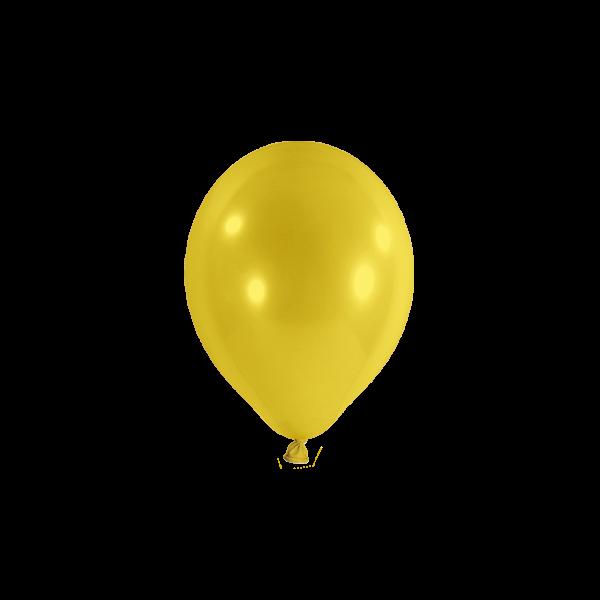 100 Miniballons - Ø 12cm - Gelb