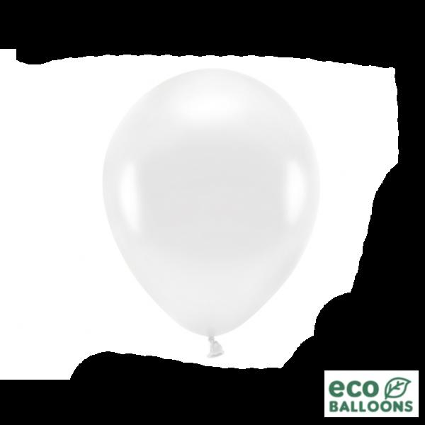 10 ECO-Luftballons - Ø 26cm - Metallic - White