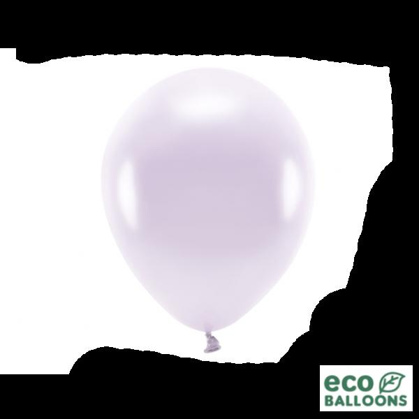 10 ECO-Luftballons - Ø 26cm - Metallic - Lilac