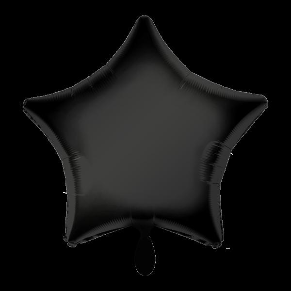 1 Ballon - Stern - Schwarz