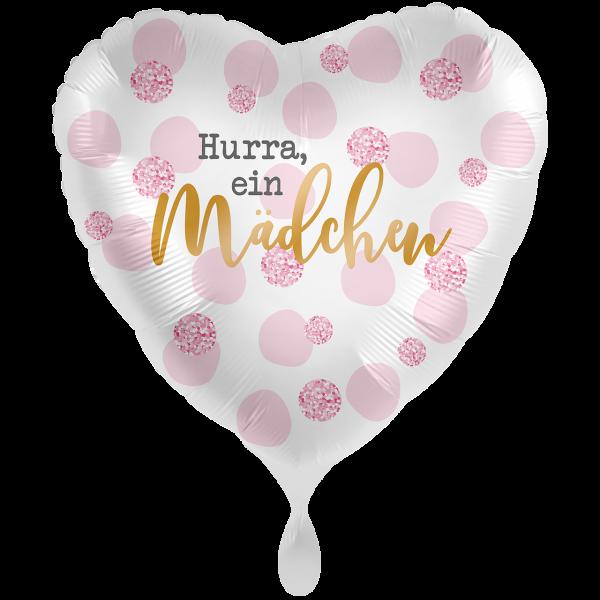 1 Ballon XXL - Hurra, ein Mädchen