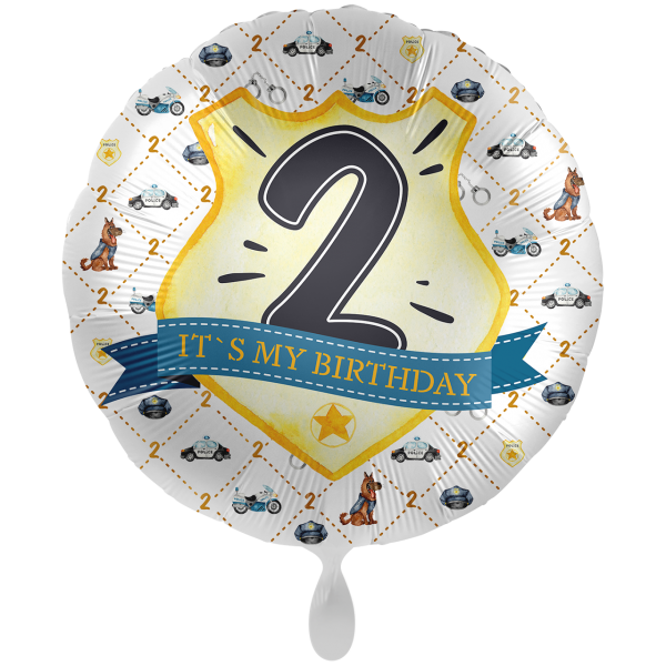 1 Ballon XXL - Police Academy - Zwei