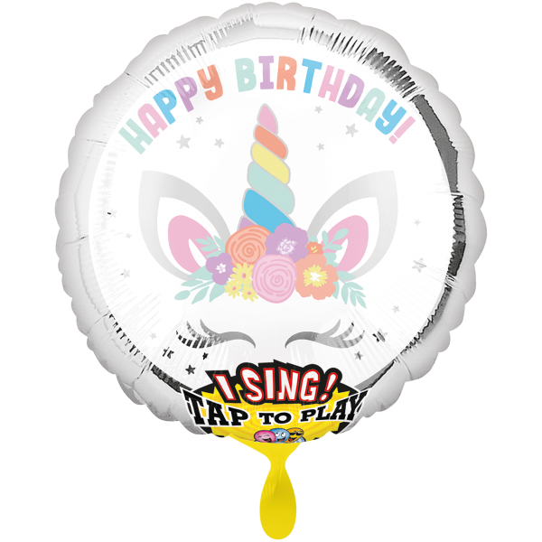 1 Musikballon - Unicorn Party
