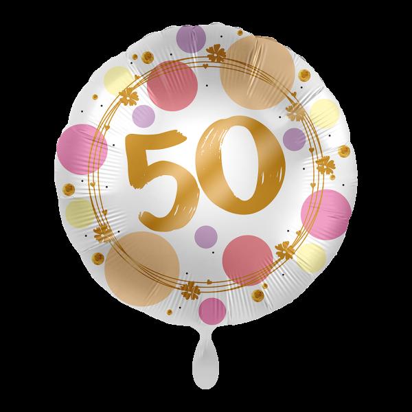 1 Ballon - Shiny Dots 50