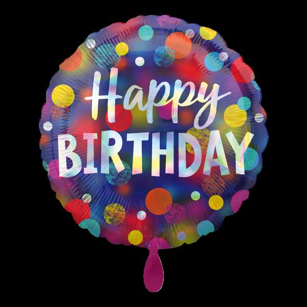 1 Ballon - Iridescent Party Dots