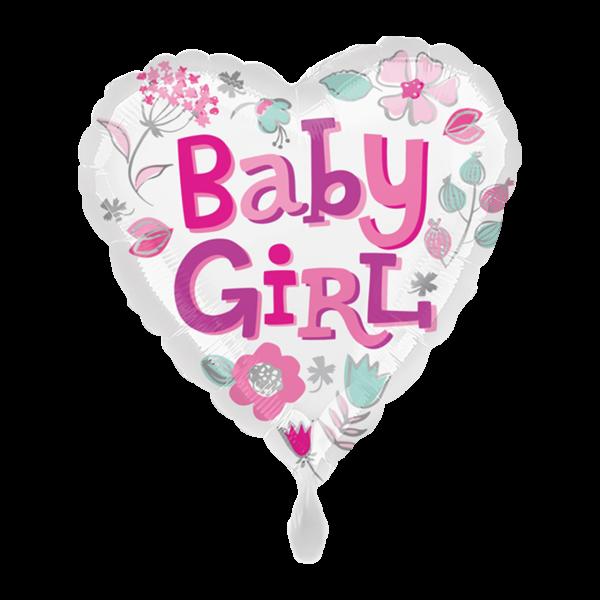 1 Ballon - Baby Girl Heart