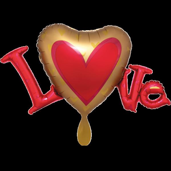 1 Ballon XXL - Satin Infused Love