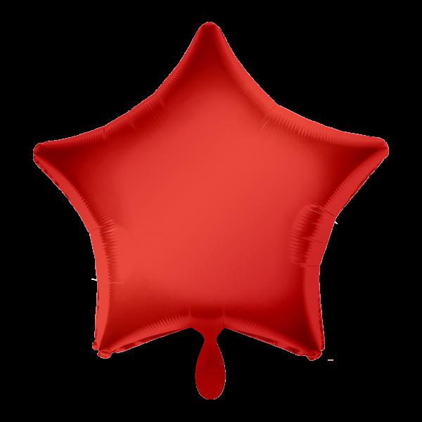 1 Ballon - Stern - Rot