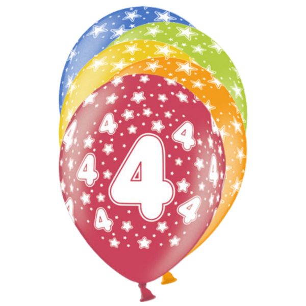 6 Motivballons - Ø 30cm - 4 Celebration