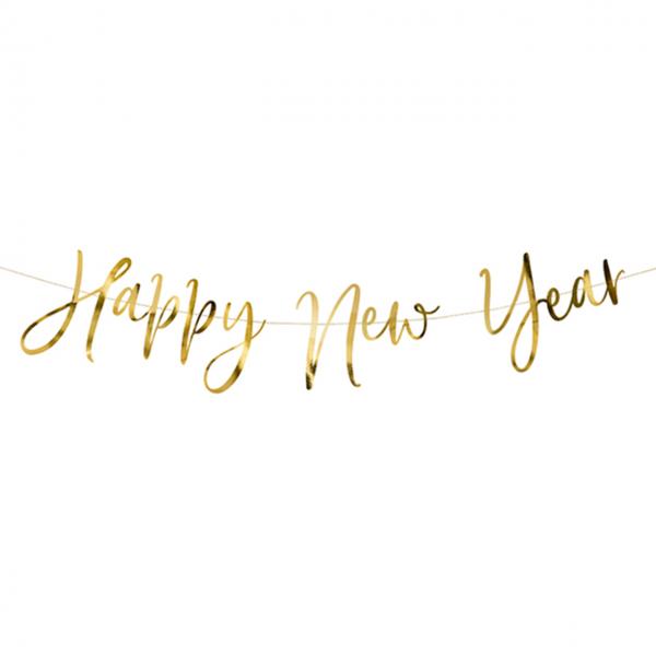 1 Bannergirlande - Happy New Year