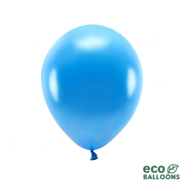 100 ECO-Luftballons - Ø 30cm - Metallic - Blue