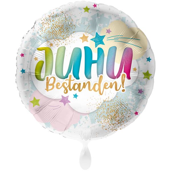 1 Ballon XXL - JUHU Bestanden!