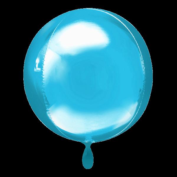 1 Ballon - Orbz - Hellblau
