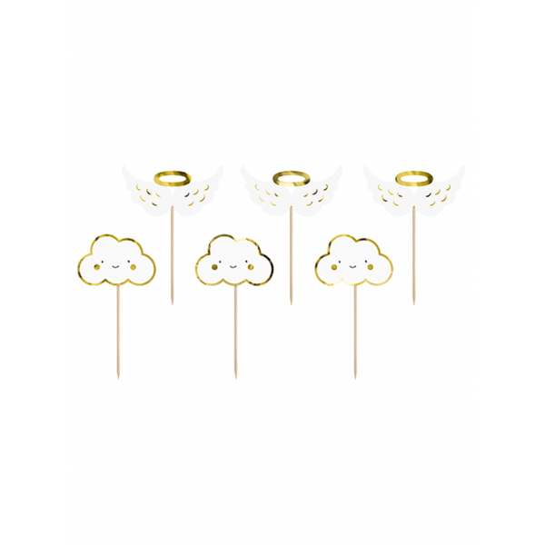 6 Cake Topper - Clouds & Wings