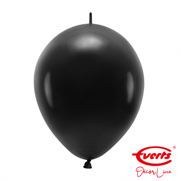 50 Girlandenballons - DECOR - Ø 30cm - Jet Black
