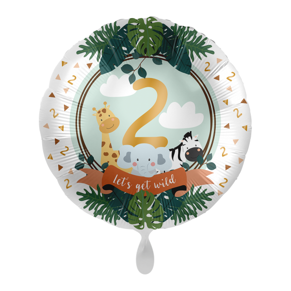 1 Ballon - Jungle Friends - Zwei