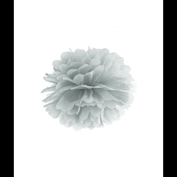 1 Pompom - Ø 25cm - Silber