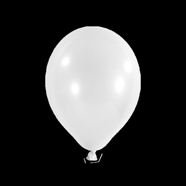 50 Luftballons - Ø 27cm - Metallic - Weiß