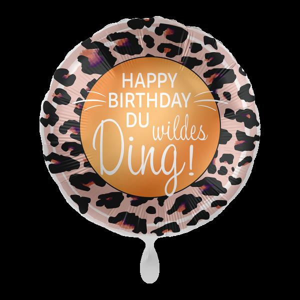 1 Ballon - Happy Birthday Du wildes Ding