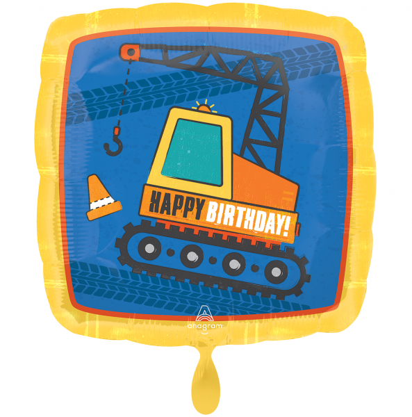1 Ballon - Construction Happy Birthday