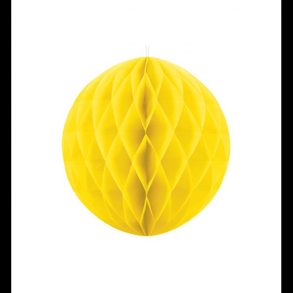 1 Wabenball XL - Ø 20cm - Gelb