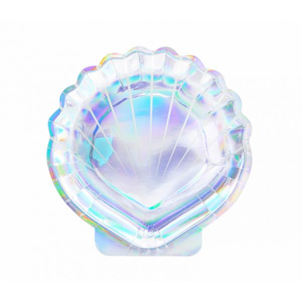 6 Pappteller Trend - Ø 18cm - Mermaid Seashell