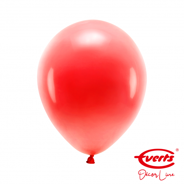 50 Luftballons - DECOR - Ø 28cm - Pearl & Metallic - Apple Red
