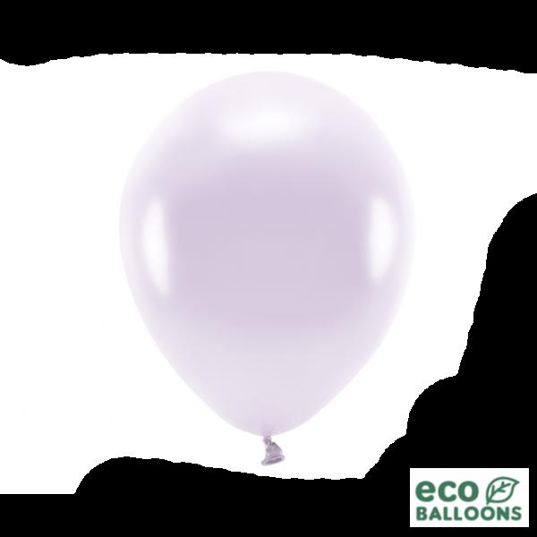 10 ECO-Luftballons - Ø 30cm - Metallic - Lilac