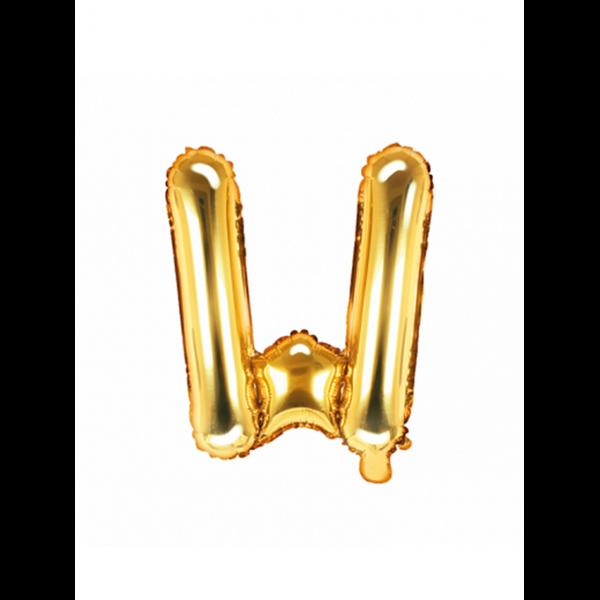 1 Ballon XS - Buchstabe W - Gold