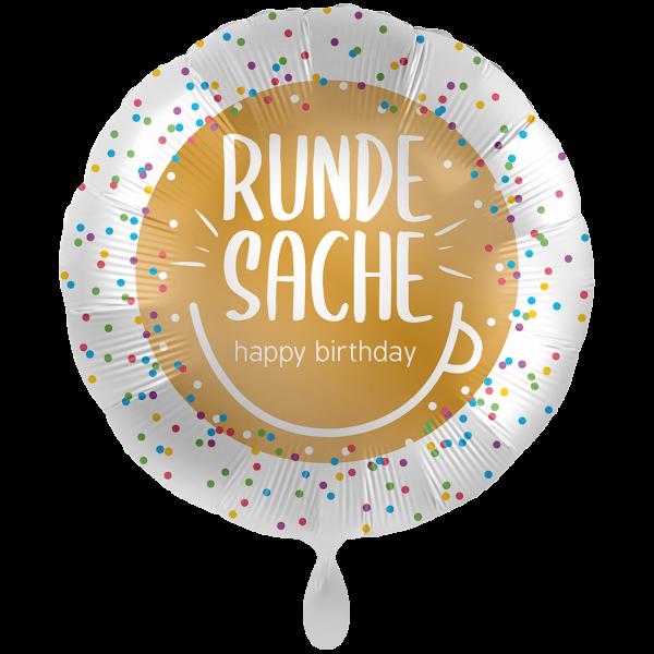 1 Ballon XXL - Runde Sache Happy Birthday