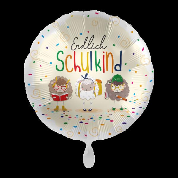 1 Ballon - Endlich Schulkind Schafe